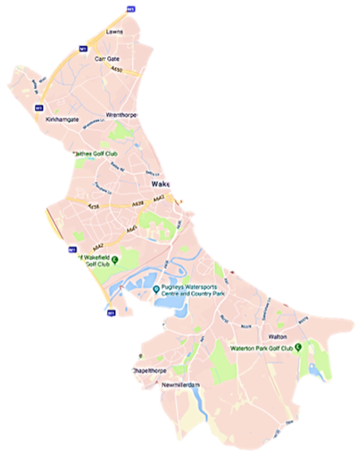 Wakefield Skip Hire WF2 Postcode Service Area